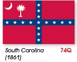 South Carolina Civil War Flag Made in USA