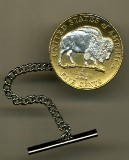 New Jefferson nickel �Sacred White Buffalo� Tie Tack - American Made