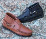 Buckle Chukka Boots Deertan Leather - Made in USA by Footskins