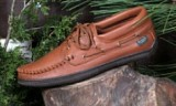 Footskins Men's Deerskin Lace-Up Shoes-Rubber Sole - Made in America