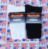 Men's Extra Wide Medical Crew Socks Made in USA - 3 Pairs