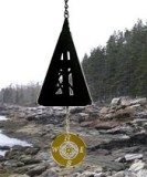 North Country Compass Rose Black Bell Made in America
