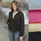 Full Zip Ladies� Fleece Hood - Outlook - Made in America