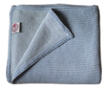 "Woven ""Knit Look"" Blue Bed Blankets Made in America by Amana Woolen"