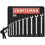 Craftsman 10 pc. Combo Wrench Set  Made in America