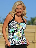 Posh Zebra Tankini USA Made