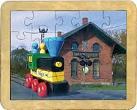 Maple Landmark - Train Station Puzzle - American Made