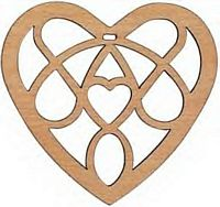 Maple Landmark Cutout Maple - Heart