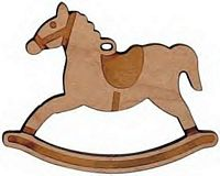 Maple Landmark Cutout Maple - Rocking Horse