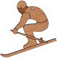 Maple Landmark Cutout Maple - Skier