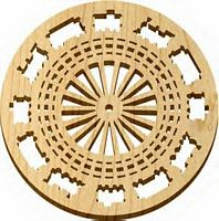 Maple Landmark American made Trivet - Natural - Railway