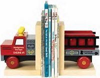 Maple Landmark  - Fire Truck Bookends - American Made