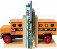 Maple Landmark  - School Bus Bookends - American Made