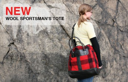 Duluth Pack Wool Sportsman's Tote Made in USA