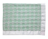 Bleach White/Mint Cotton Two-Tone Diamond Weave