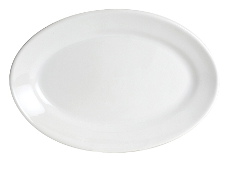 Classic White Large Oval Serving Platter