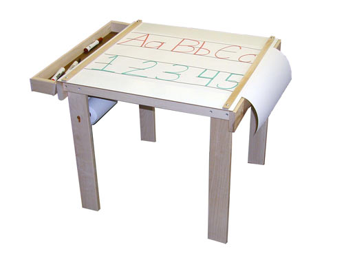 Beka Art Table American Made, one wood tray, paper holder under table (paper sold separately)