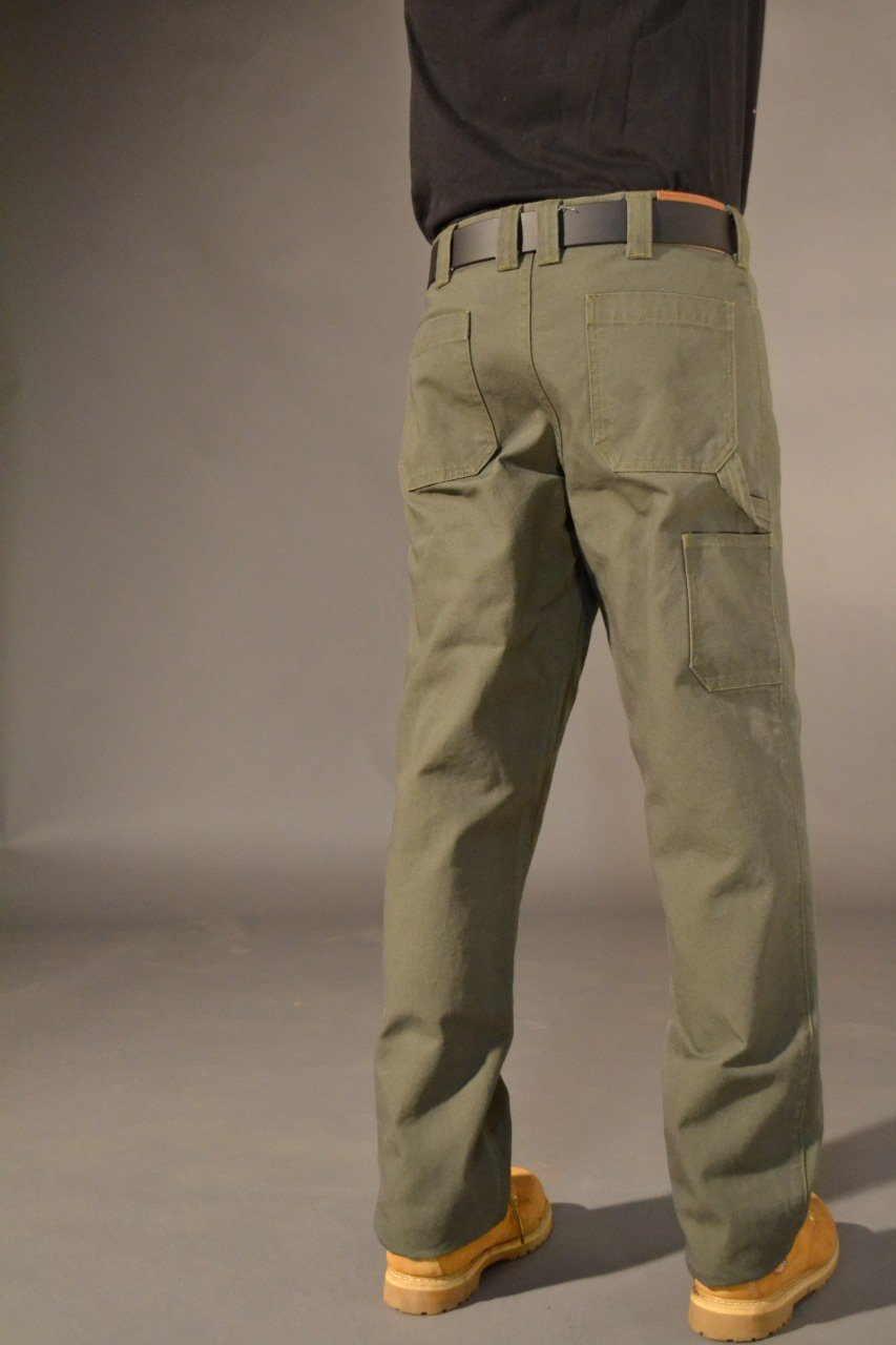 Usab2c Canvas Work Pant With Knee Pad Pockets American