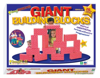 Smart Monkey Toys 16pc Giant Building Block Set