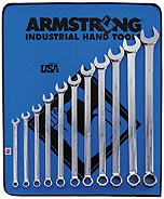 Armstrong 11 Pc. 12 Point Full Polish Extra Long Combination Wrench Set