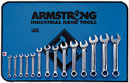 Armstrong 14 Pc. 12 Point Full Polish Short Combination Wrench Set Metric