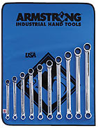 Armstrong 10 Pc. 12 Point Full Polish Geared Box Wrench Set Metric