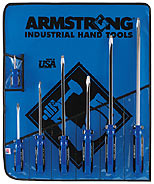 Armstrong  7 Pc. Standard (Square) Screwdriver Set - American Made