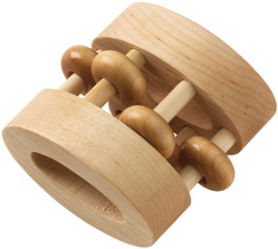Maple Landmark Rattles - Natural Oval Bead