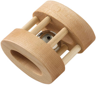 Maple Landmark Rattle Made in USA - Natural Oval Bell