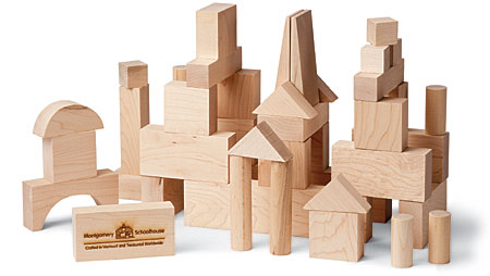 Maple Landmark American Made Building Blocks - Junior Builder - 41 Pc