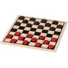 Maple Landmark Checkers - Basic Checker Board (Only) - American Made