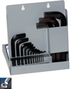Eklind&#174 Hex-L&#174 Hex Key Set, Short Series, 15 keys: 0.7 to 17 MM & Metal Box