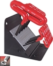 Eklind Tool Company&#174 Cushion Grip Hex T-Key Set, 6 inch Series, 10 keys: 3/32 to 3/8 Inch & Stand Made in USA