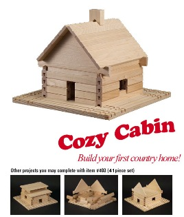 Stack and Stick Cozy Cabin Building Set - American Made