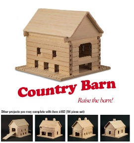 Stack and Stick Country Barn - American Made