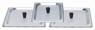 STAINLESS LID FOR 1-2.6 & 2-4.3 QT CHAFING DISH   -  3 PCS - Made in America
