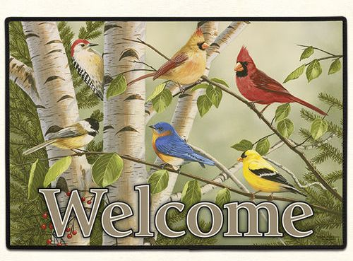 SUMMER FRIENDS WELCOME Doormat Made in America