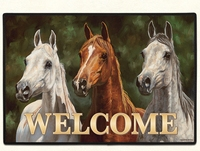 HEADS UP WELCOME Doormat Made in America