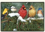 BACKYARD BIRDS WELCOME Doormat Made in America