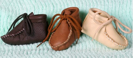Footskins Infant Deerskin Booties  Made in USA
