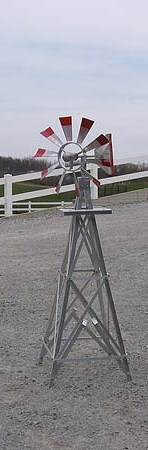 Aluminum Decorative Windmill Made in USA 12 ft.