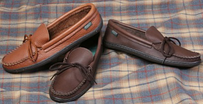 Men's Molded Sole Cowhide Moccasins  - American Made by Footskins