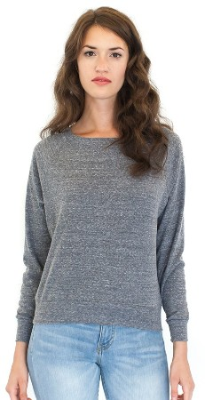 Triblend Long Sleeve Raglan Pullover American Made