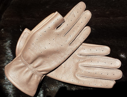 Mens Dark Brown USA Made Leather Shooter Glove with  Cut-Off Trigger Finger