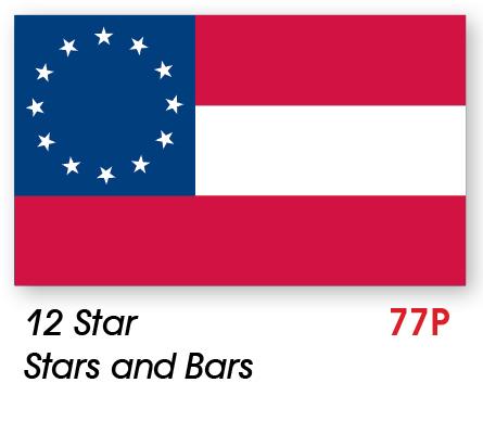 USAB2C - 12 Star Stars and Bars Civil War Flag Made in USA ...