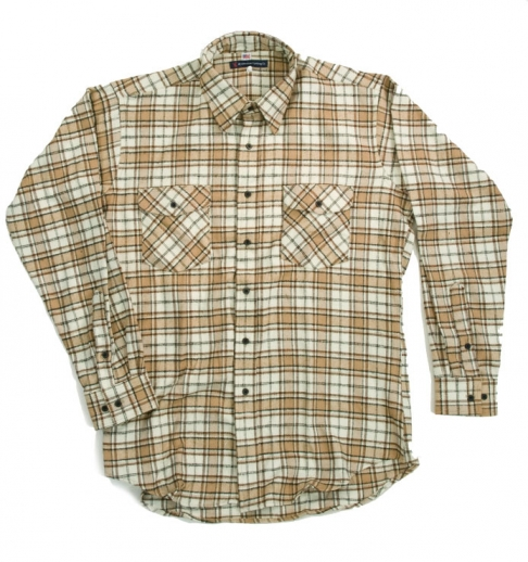 Tan Flannel Shirt Made in USA
