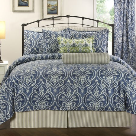 Victor Mills Allegra Denim Comforter Set Made in America
