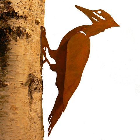 Pileated Woodpecker Bird Silhouette American Made