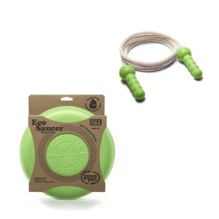 Green Toys� EcoSaucer� Flying Disc and Green Jump Rope Made in USA