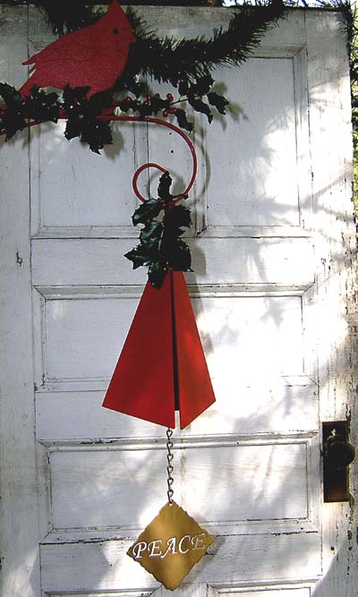 North Country Holiday Bell with Peace Windcatcher Made in USA